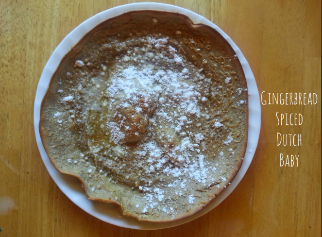 Gingerbread Spiced Dutch Baby