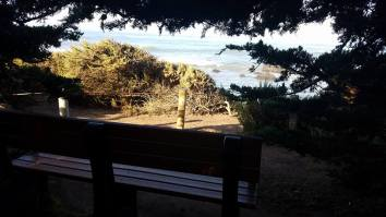 We found a bench to have a special moment
