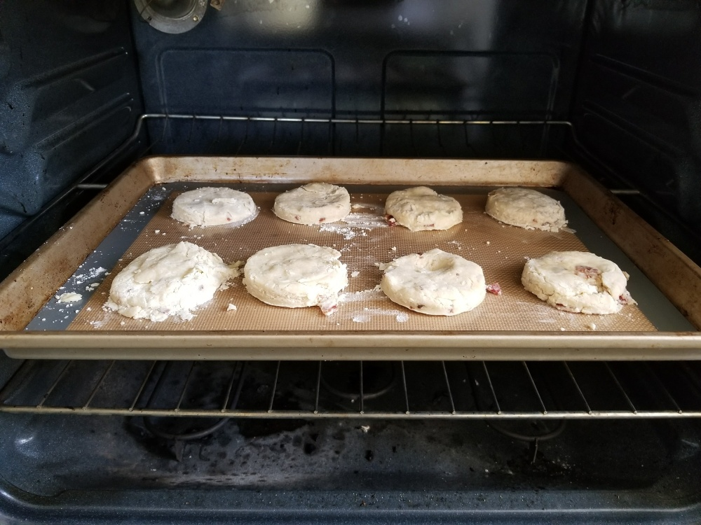 14. Buscuits in oven