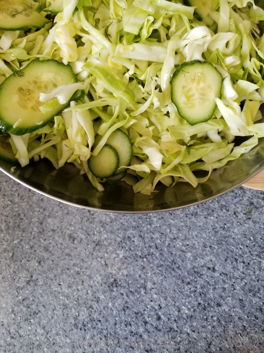Vinegar Slaw with Cucumbers and Dill